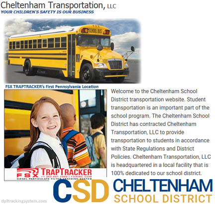 Cheltenham Transportation uses FSX TrapTracker to track the DPF cleanings of its school buses