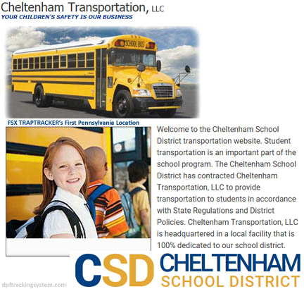 Cheltenham Transportation uses FSX TrapTracker to track the DPF cleanings of its school buses.