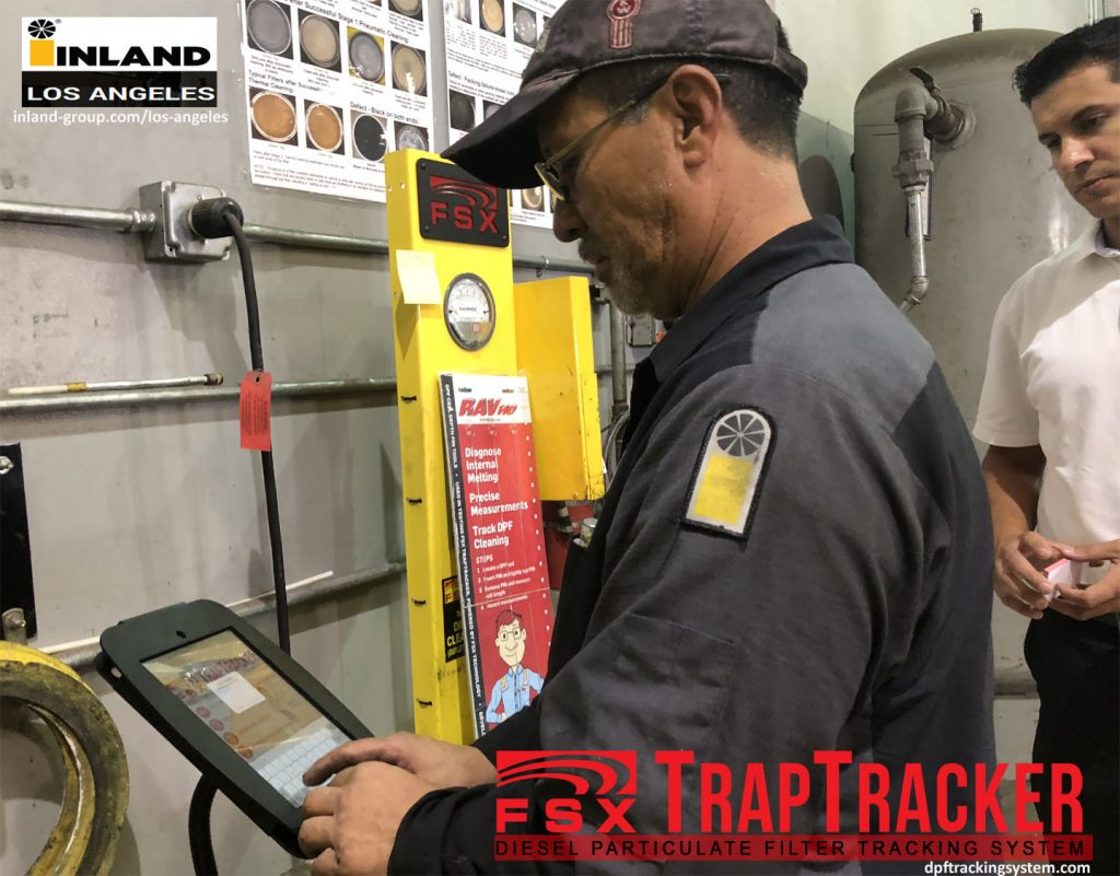 DPF Technician Using FSX TrapTracker Inland Kenworth Los Angeles