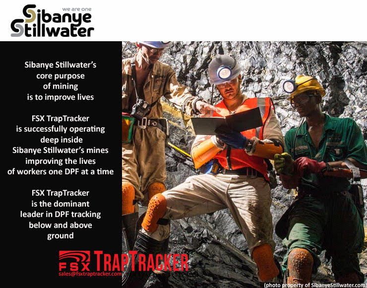 SibanyeStillwate rAuthorized FSX TrapTracker Location...FSX TrapTracker operating below ground and above.