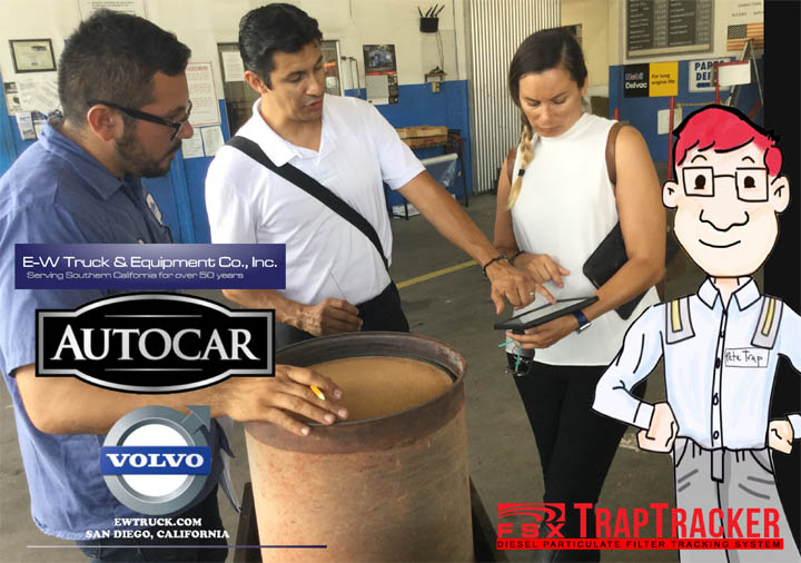 EW Trucking Volvo Dealership San Diego's Expert DPF Technicians With FSX TrapTracker Team